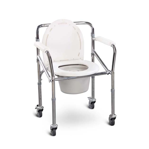 Folding Commode with castor