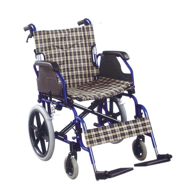 aluminium transport wheelchair